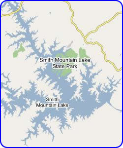 Map of Smith Mountain Lake