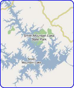 Map of Smith Mountain Lake